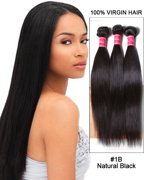 Straight 3 Bundles Unprocessed Peruvian Virgin Hair Weave Remy Hair Weft Human Hair Extension