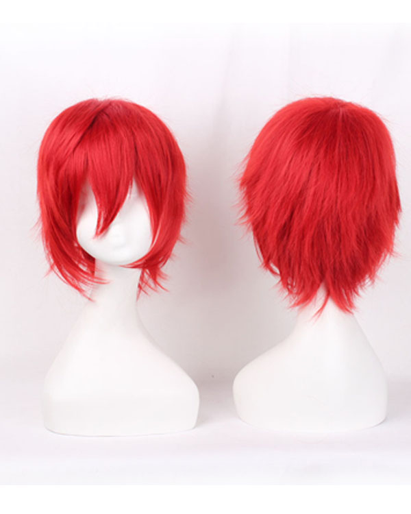 Akabane Karma Cosplay Wigs Costumes Wigs Red Short Hair Cosplay Wig