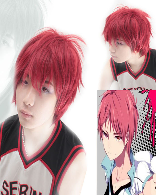 Akashi Seijuro Cosplay Wigs Red Costumes Wigs For Themed Party