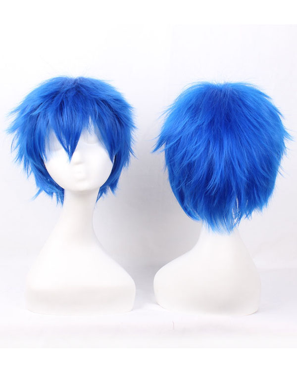 Aomine Daiki Cosplay Wigs Costumes Wigs Blue Bright Short Hair Cosplay Wig