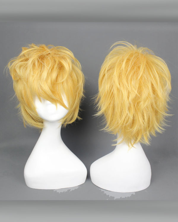 Ezreal Cosplay Wigs Costumes Wigs Yellow Short Hair Cosplay Wig