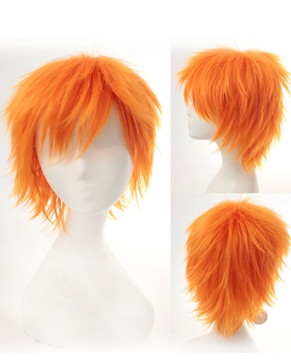 Copper Red Cosplay Wigs Kurosaki ichigo Costumes Wigs For Themed Party