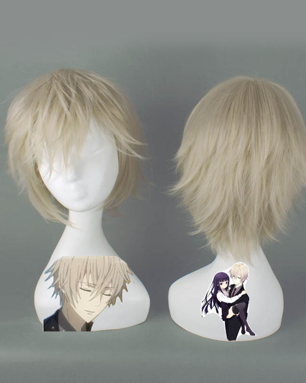 Miketsukami soushi Cosplay Wigs Costumes Wigs White Blonde Short Hair Cosplay Wig