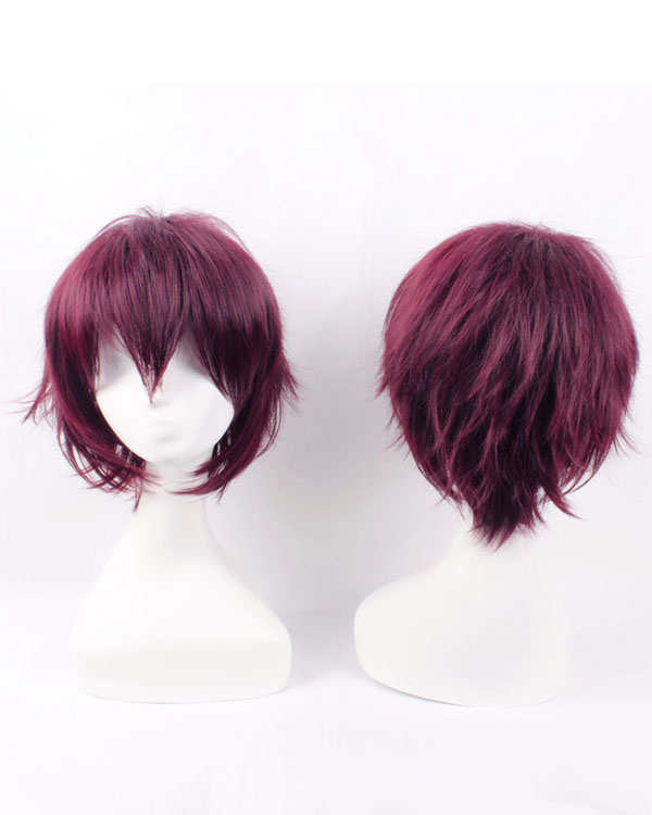 Shiki Senri Vampire Cosplay Wigs Costumes Wigs Red Short Hair Cosplay Wig