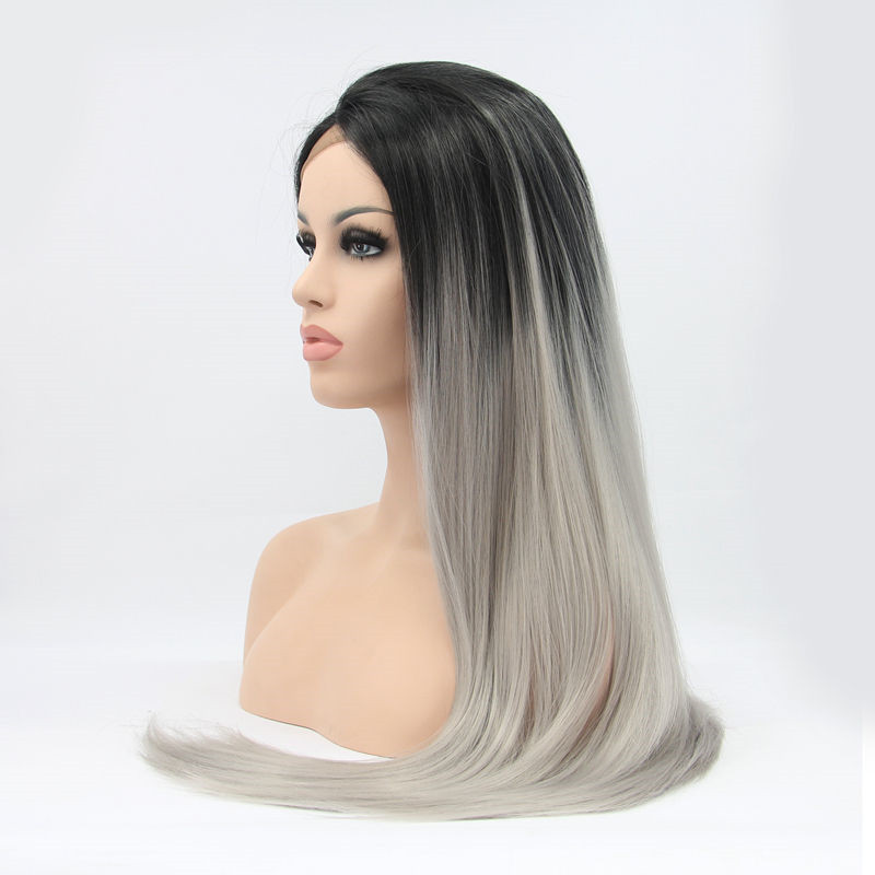 2017 Best Seller Grenny Grey Ombre Synthetic Lace Front