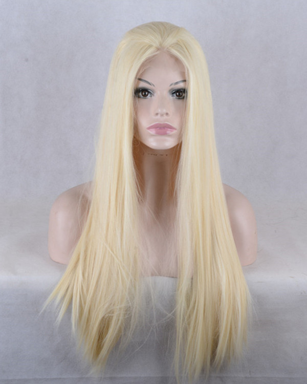 2017 New Arrival #613 Blonde Synthetic Lace Front Wigs 180% Density Long Straight Wig