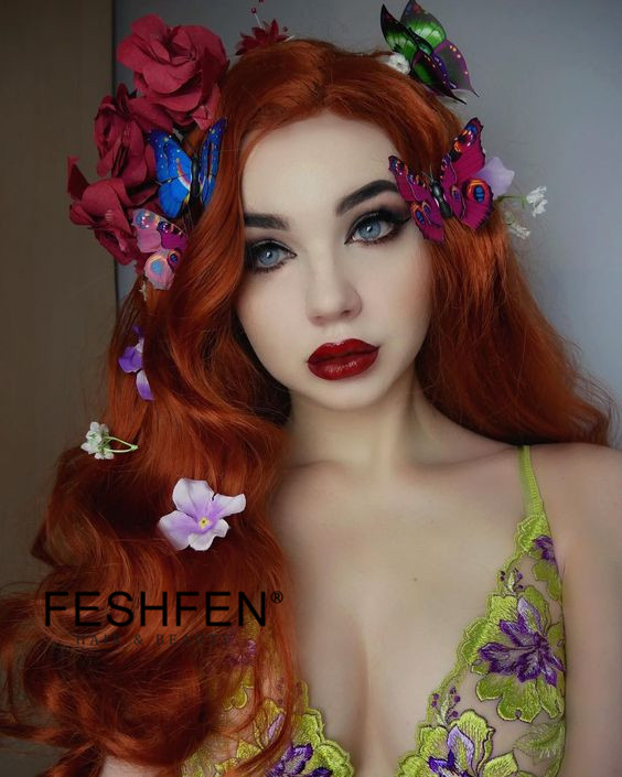 2018 New Arrival Light Auburn Synthetic Lace Front Wigs