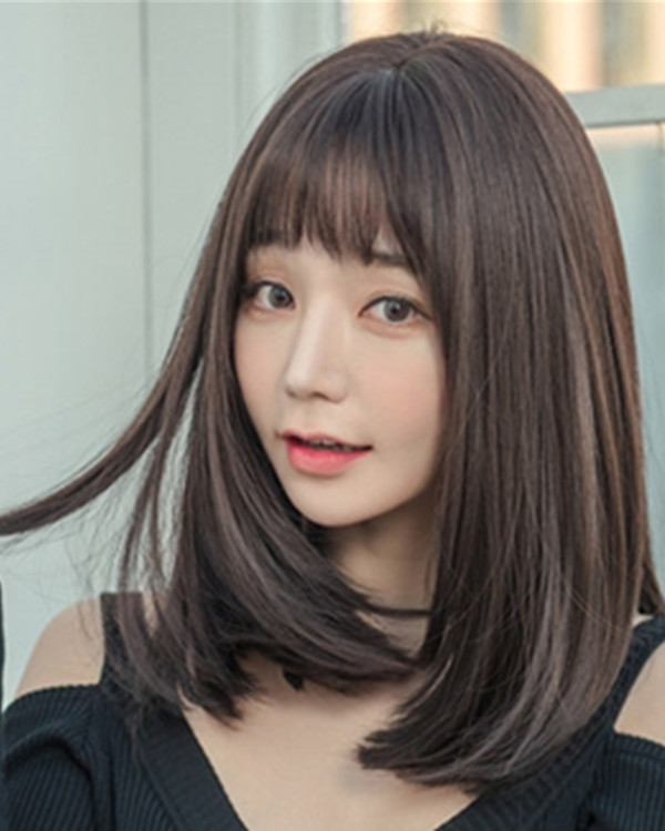 FESHFEN 2018 New Chocolate Brown Long Straight Lolita Wig Costume Wig For Women