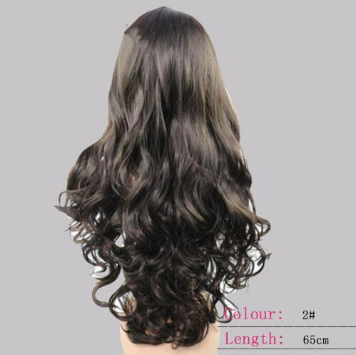 2018 Dark Brown Long Wavy Costume Wig Long Wavy Cosplay WIg - Click Image to Close