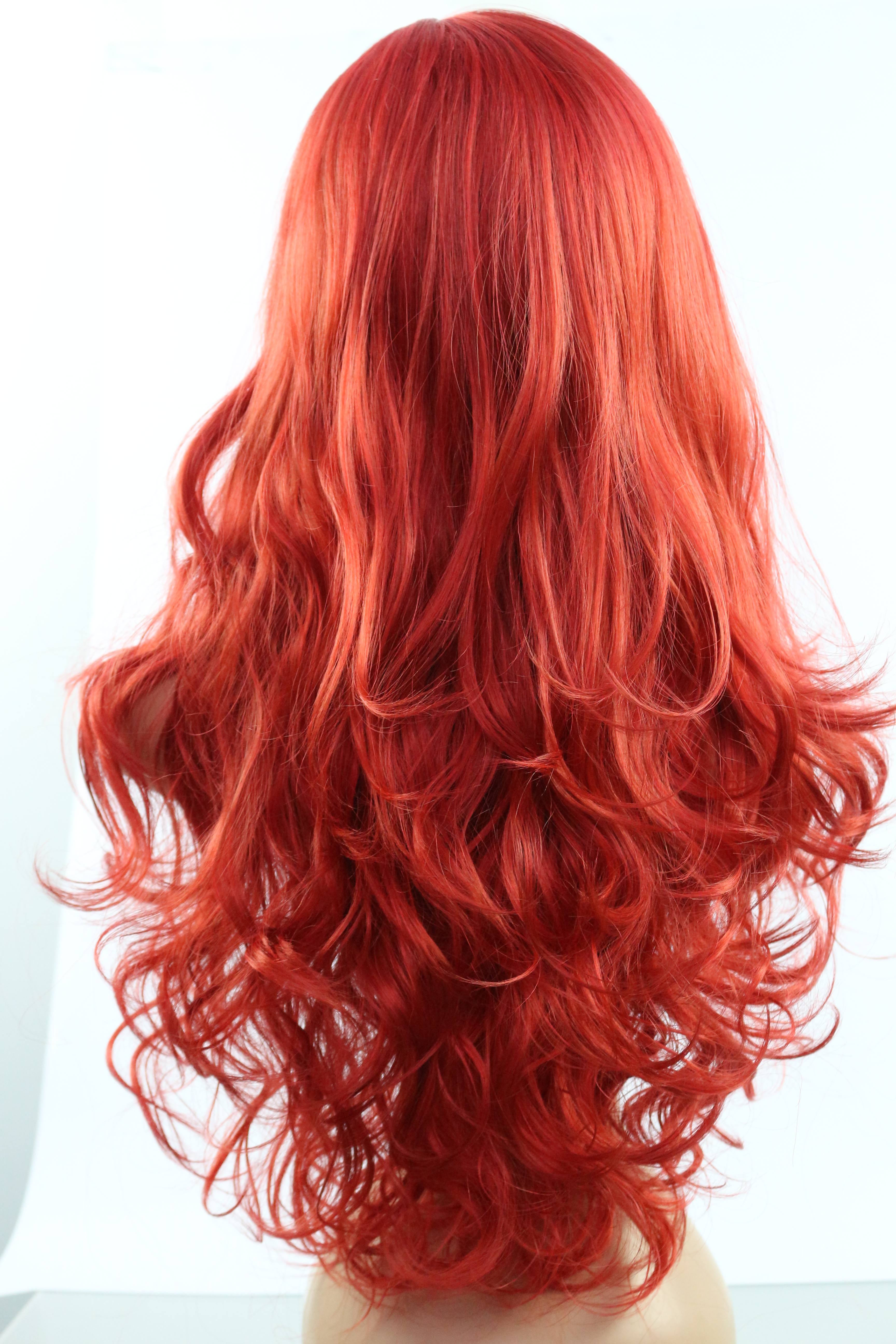 2018 New Copper Red 350 Long Wavy Costume Wig C13 350