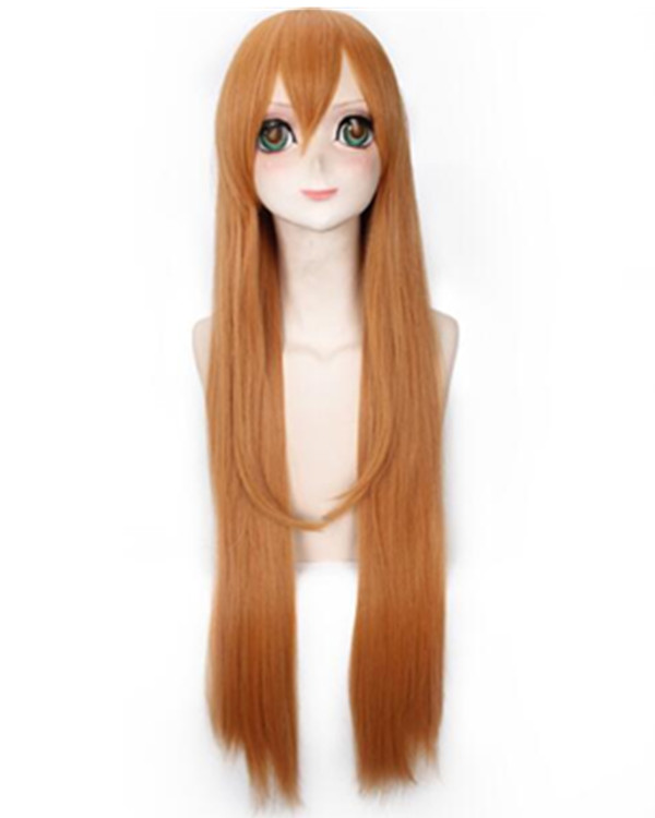 Himouto! Umaru-chanc Copper Red Flaxen Long Straight Cosplay Wig For Women Party Halloween