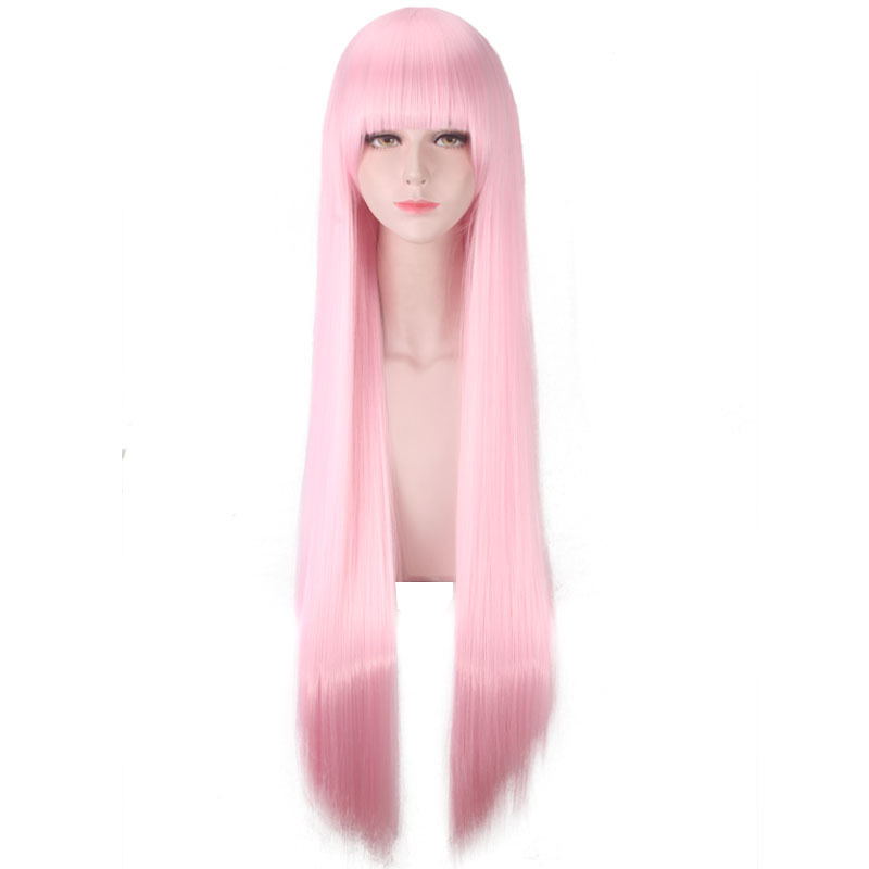 Parrucca Rosa Lunga Cosplay Anime DARLING in the FRANXX Zero Two 002 Cosplay Wig with Corna Cerchietto /& Calotte per Parrucca HIROAKIYA Zero Two Wig