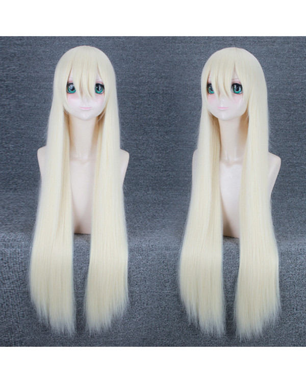 FESHFEN Light Blonde Straight NieR: Automata Cosplay Wig A2 Cosplay Wig With Bang