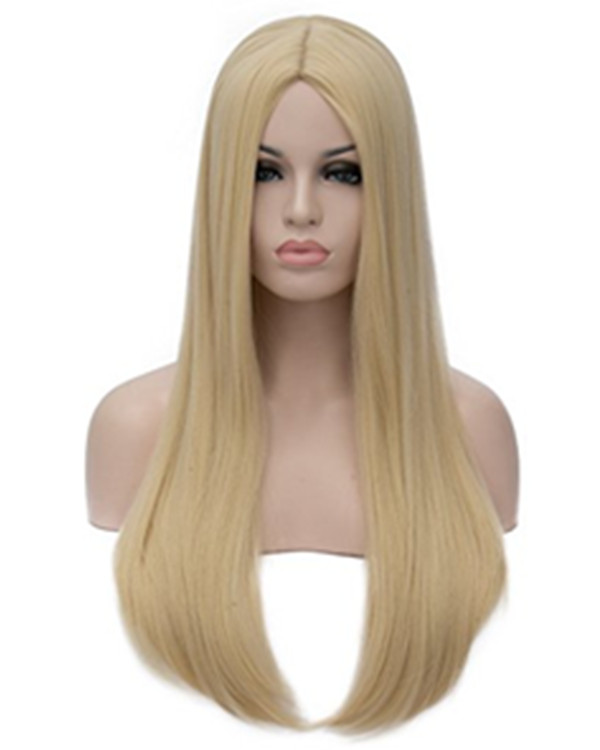 2018 New Blonde Straight Cosplay Wig Heat Resistant Costume Wig For Women