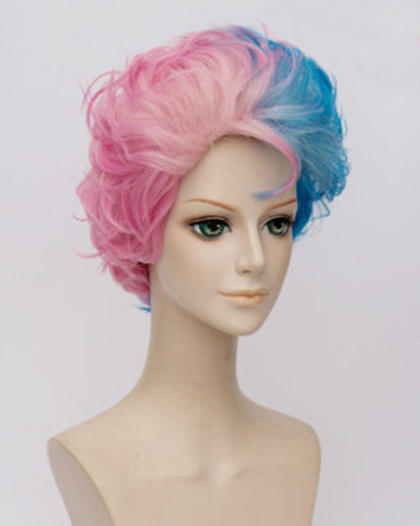 Suicide Squad Harley Quinn Male Short Cosplay Wigs DC Comics Pink Blue  Ombre Joker Costume 7a0354f82