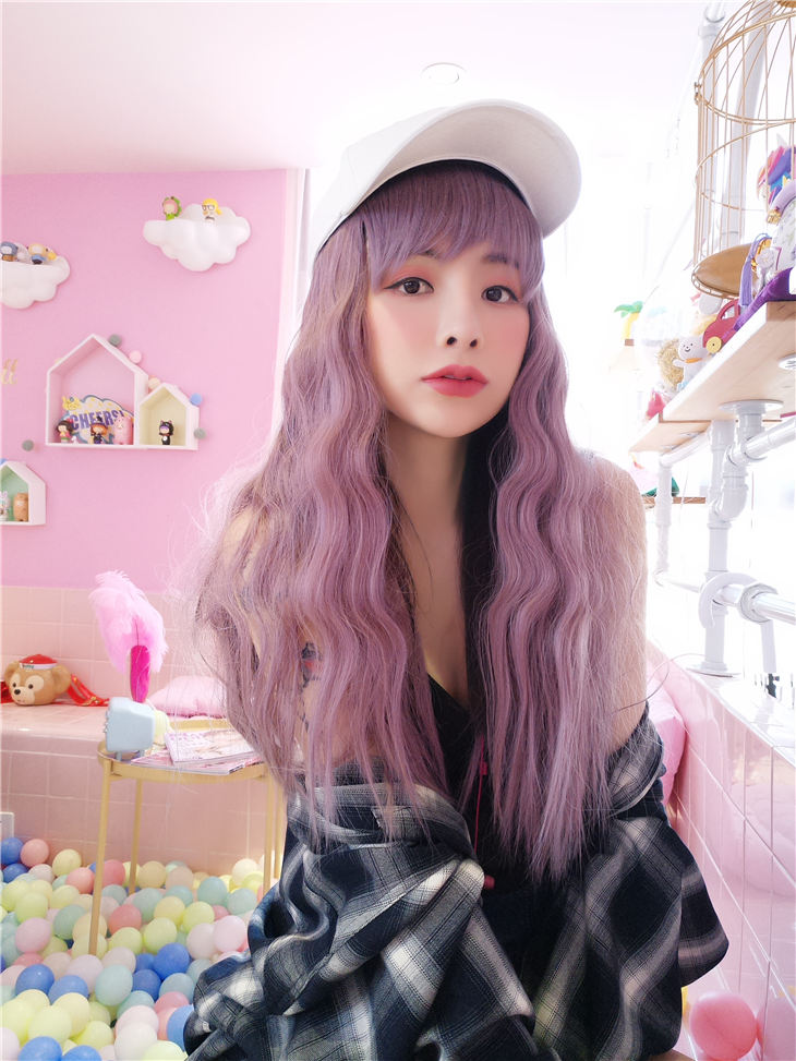 Feshfen 2019 New Chic Wig Hat Casual Baseball Cap With