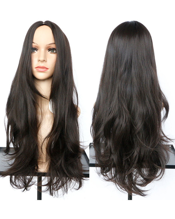 2017 Black Brown Wavy Costume Wig Long Wavy Wig For Women