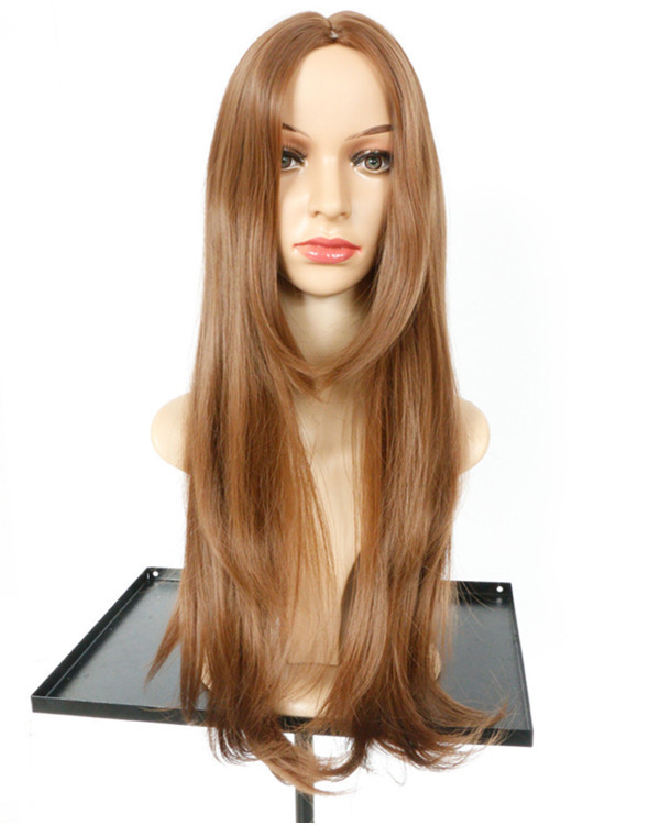 2017 New Flaxen Wavy Costume Wig Long Wavy Wig For Women