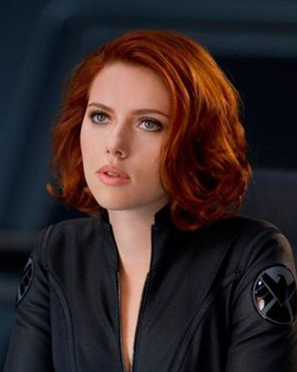 Black Widow Medium Long Wigs Wavy Synthetic Hair Wig