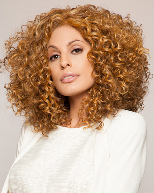 Curly Wave Medium Long Wavy Wigs Synthetic Hair Wig