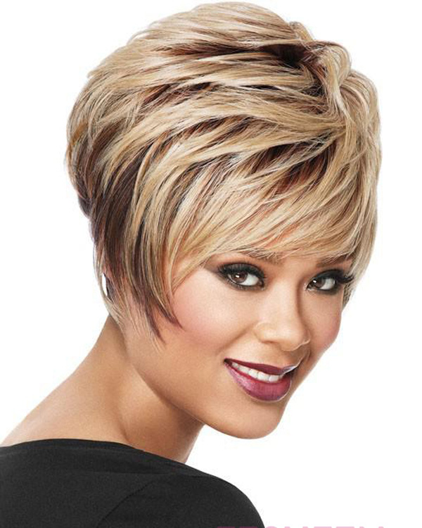 2015 New Fashion Short Wavy Wigs Synthetic Hair Wig