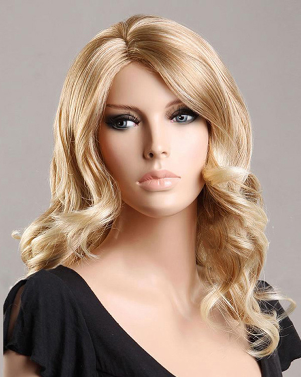 Blonde Body Wave Wigs Long Synthetic Hair Wig