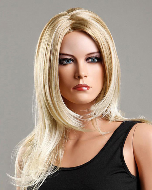 Popular Blonde Wavy Wigs Long Synthetic Hair Wig