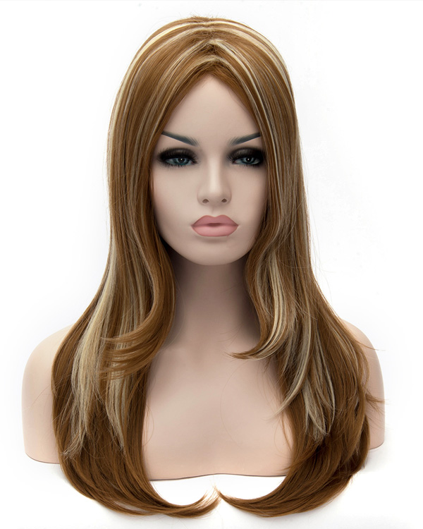 Fashion Highlights Wavy Wigs Long Synthetic Hair Wig