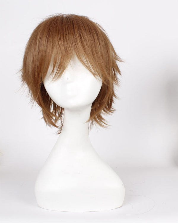 Brown Cosplay Wigs Costumes Wigs Short Hair Wig For Boys