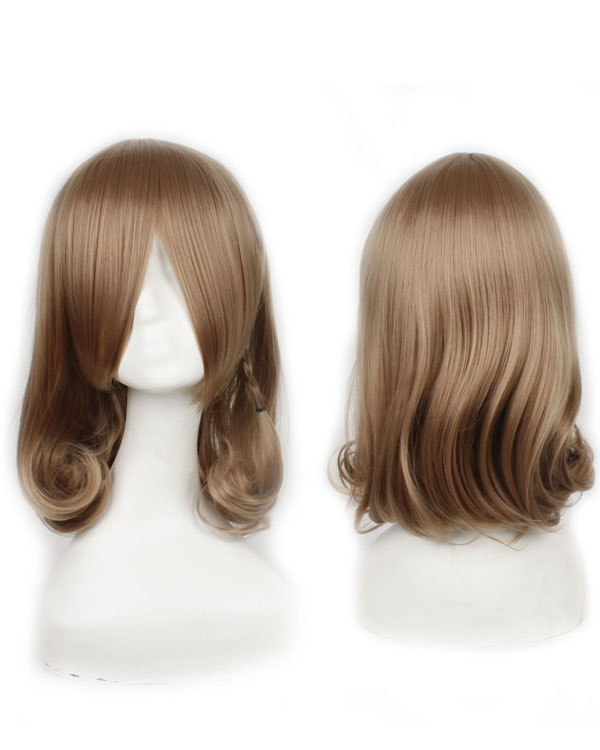 Brown Wavy Cosplay Wigs Women Costumes Wigs Party Wig