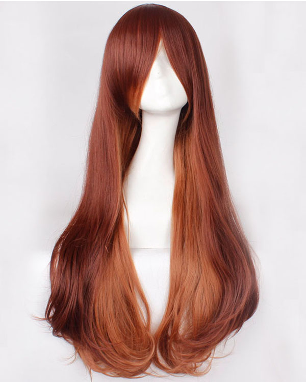 Brown Hair Wig Long Cosplay Wigs Costumes Wigs Party Wig