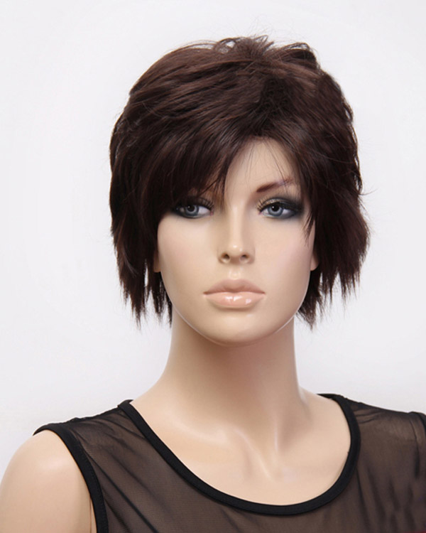 Fashion Short Wavy Wigs Synthetic Hair Wig