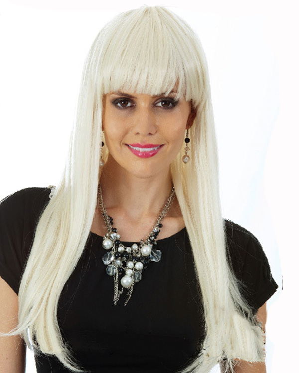Long Colored Costume Wigs Cosplay Wig With Bangs