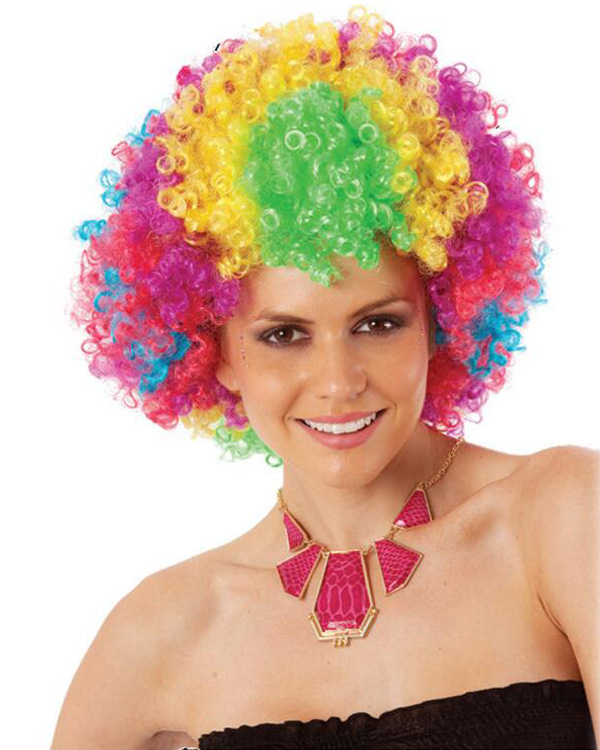 Adult Clown Wig Colored African Costume Wig