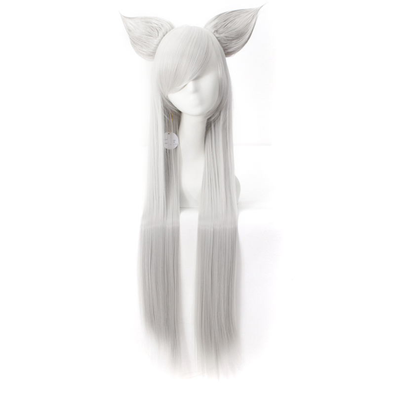 Grey Cosplay Wig Long Straight Costume Wig