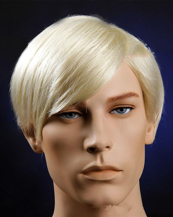 Short Blonde Wig Mens 9