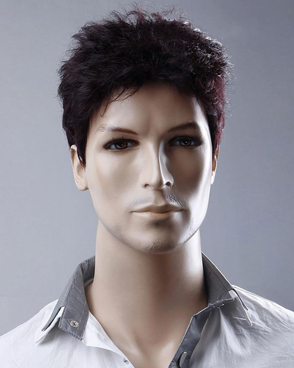 Cool Men short Hair Wigs Synthetic Hair Wig