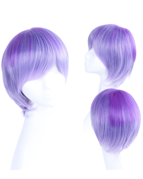 Violet Cosplay Wig Short Straight Costume Wig Women Party Wig