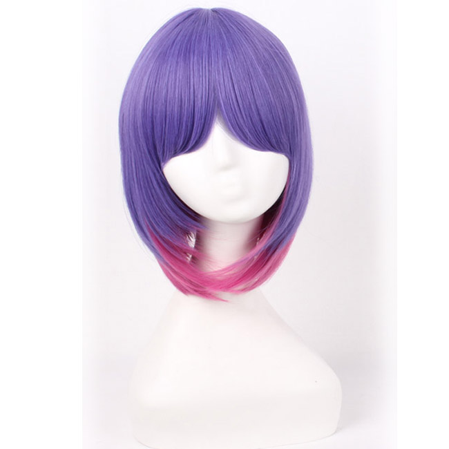 Violet Pink Cosplay Wig Short Straight Costume Wig Party Wig